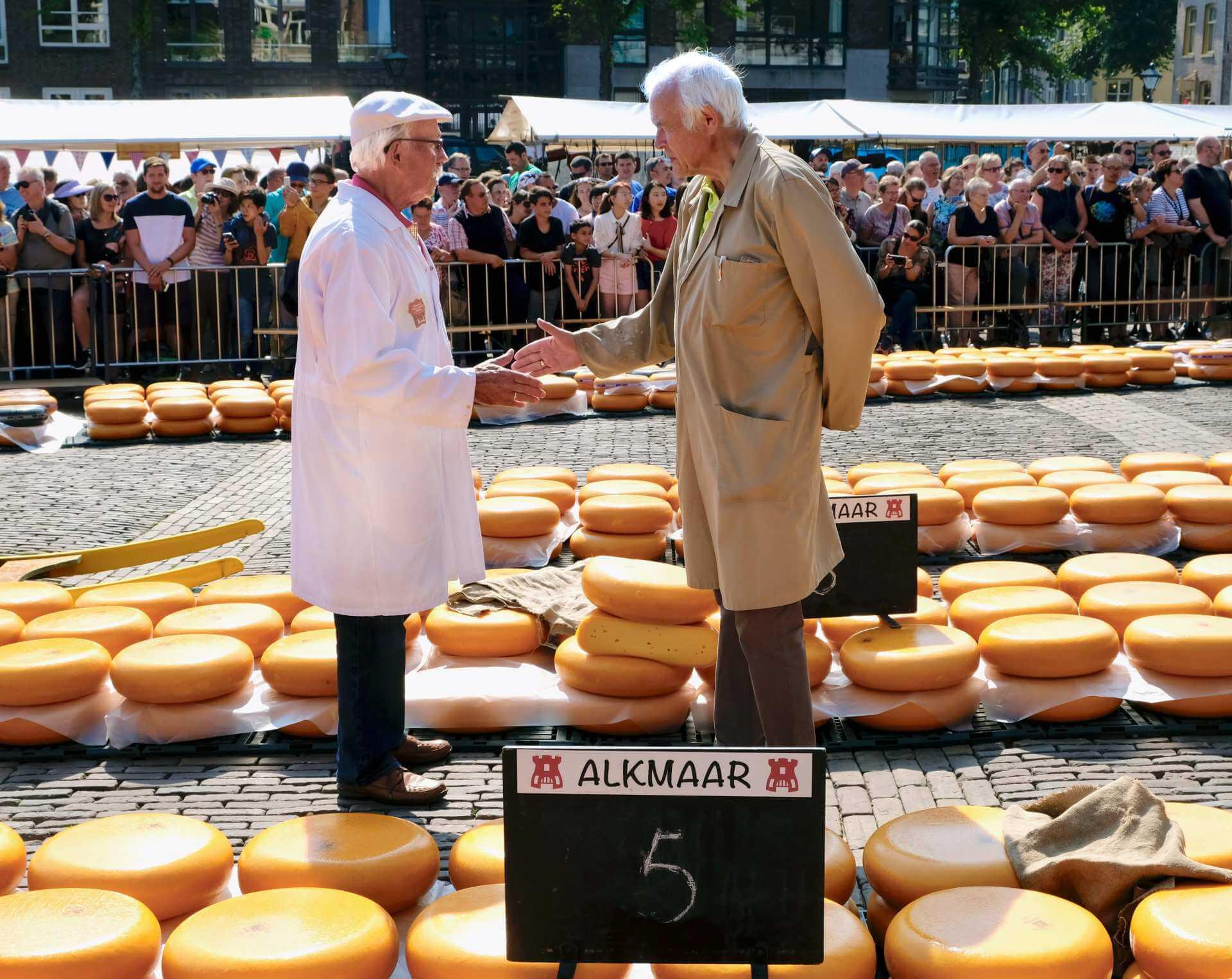 Prijsonderhandeling-Kaasmarkt-Alkmaar